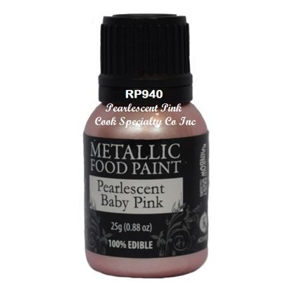 * Metallic Food Paint Pearlescent Baby Pink 25 Gram