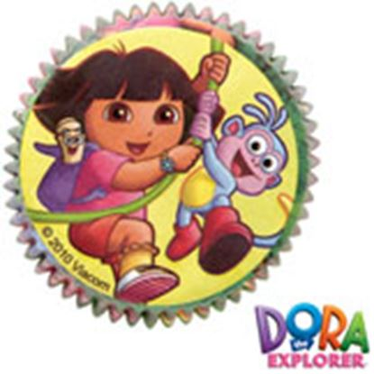 "* Dora Baking Cups 2"" Base 50 count"