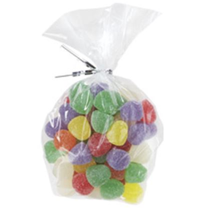 Clear Party Bags with Ties 100 count