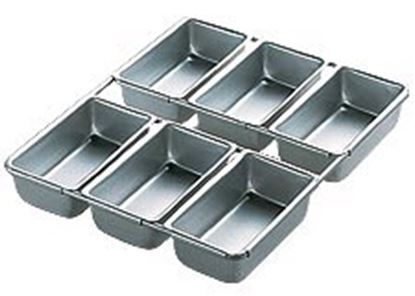 "Loaf Pan 4 1/2"" x 2 1/2"" x 1 1/2"" 6 Cavity Each"