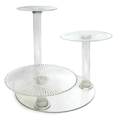 Crystal Splendor 3 Tier Cake Stand