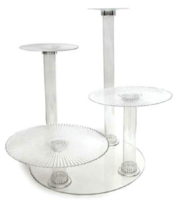 Crystal Splendor 4 Tier Cake Stand