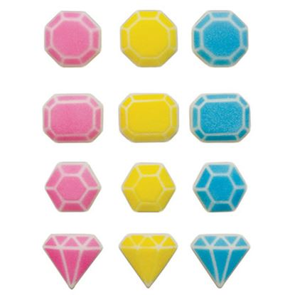 "* Fabulous Gems Assortment Dec-Ons 1"" - 1 1/8"" 12 count"