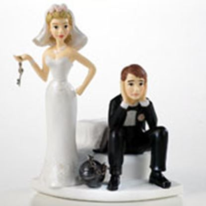 "* Ball & Chain Humorous Topper 4 1/4"" Each"