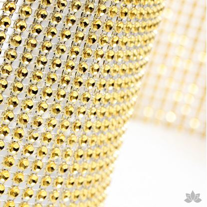 "Glam Ribbon Gold 36"" x 4 3/4"" Each"