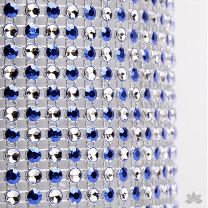 Glam Ribbon Blue & Silver Dots Each
