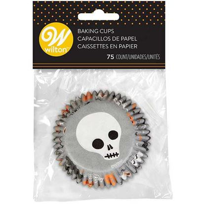 * Haunting Skull Bake Cups 75 count