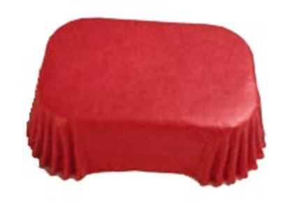 Petite Loaf Liners Red approx 100