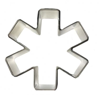 "Asterick or Medical Symbol Cookie Cutter 3"" Each"