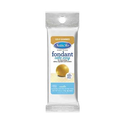 Gold Shimmer Satin Ice Fondant 4.4 oz