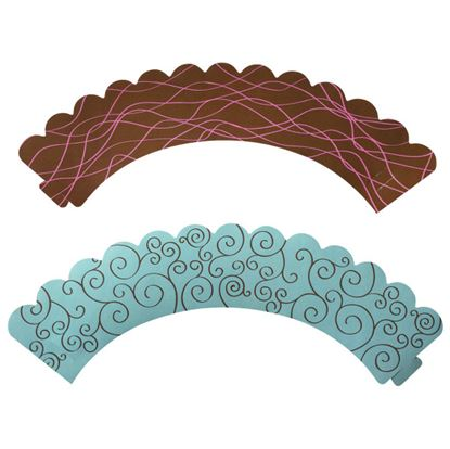 Brown & Blue Reversible Wraps 24 count