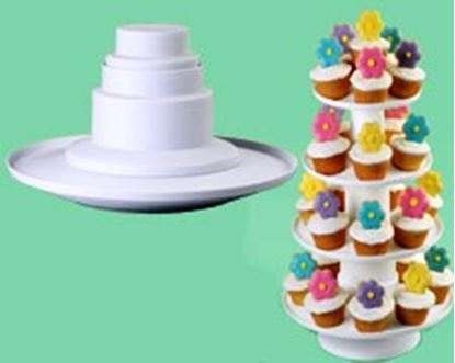 4 Tier Stacked Cupcake Tower Each