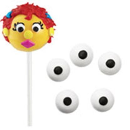 """Candy Eyes Wh With Black Dot 7/16"""" .88 oz"""