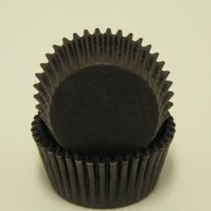 "Black Mini Cup 1 1/4"" Base x 3/4"" Wall approx 100"