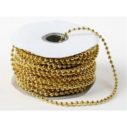 Gold Pearls On String 4mm 24 yards