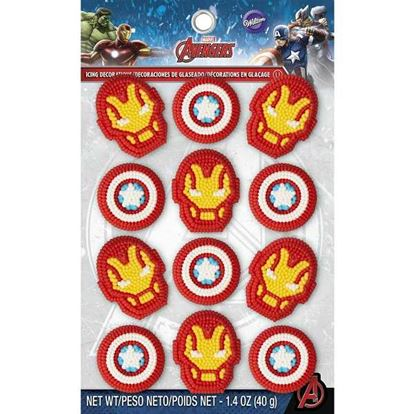Avengers Icing Decorations 12 pieces