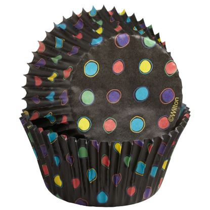 * Black with Neon Dots Standard 75 count