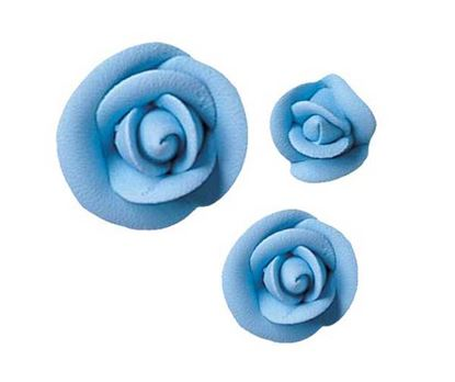 "*Large Party Blue Rose 1 3/4"" Each"