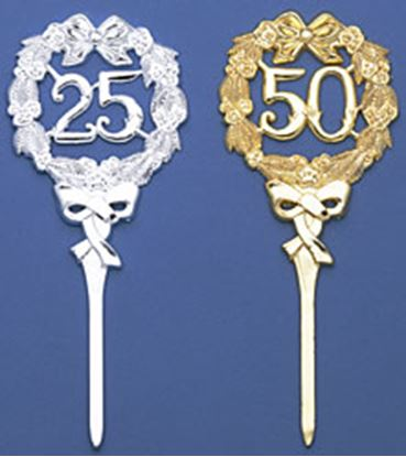 """25th Anniversary Silver Wreath Large Pick 8"""" Each"""