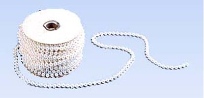 White Pearls On String 4mm 24 yards