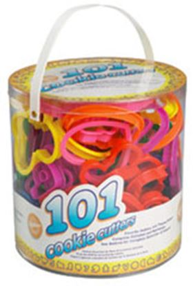 """101 piece Cookie Cutter Canister 3.5"""" Set"""