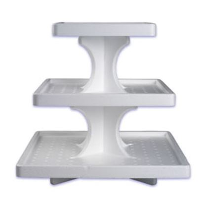 Single Use Square 3 Tier Stand Each