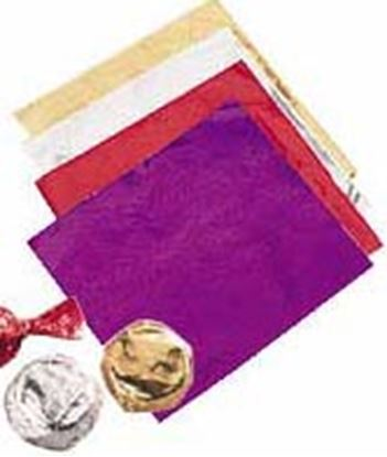 """* Foil Wraps 4""""x 4"""" Red 50 count"""