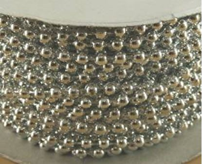 Silver Pearls On String 4mm 24 yards