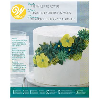 How to Pipe Simple Flowers Kit