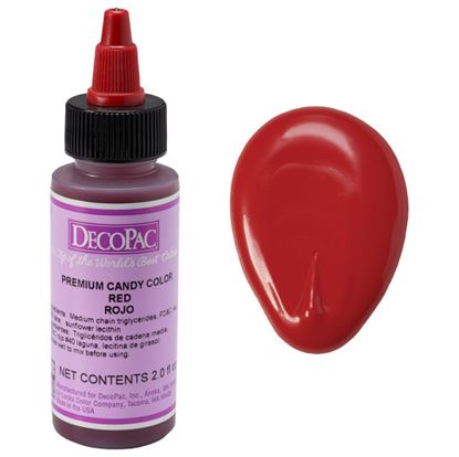 Red 2 oz Candy Color DecoPac Each
