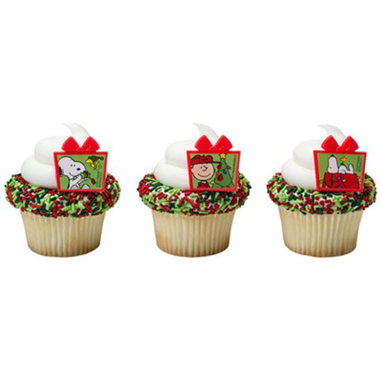 * Peanuts Christmas Presents Rings 12 count