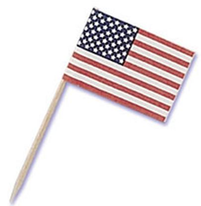"""American Flag Pick 1"""" 144 count"""