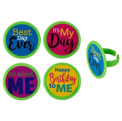 All About Me Birthday Rings 12 count