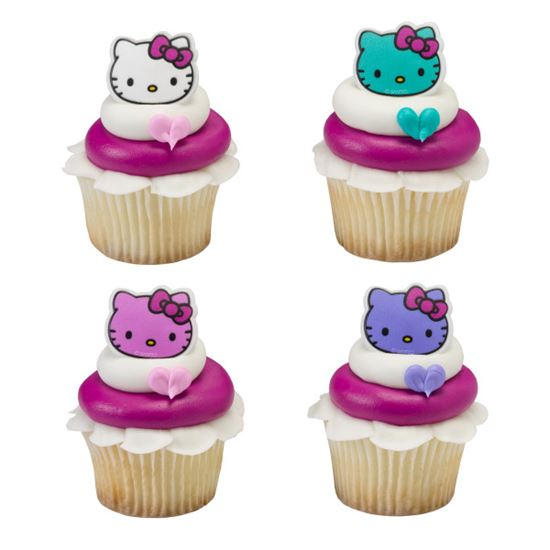 """* Hello Kitty Happy Everything Ring 1 1/2"""" 12 count"""