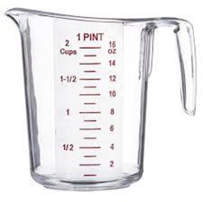 Measuring Cup 2 Cup Plastic Each