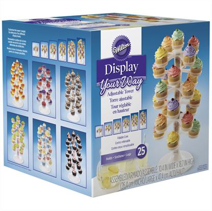 Cupcake Tower Holds 25 cupcakes Each