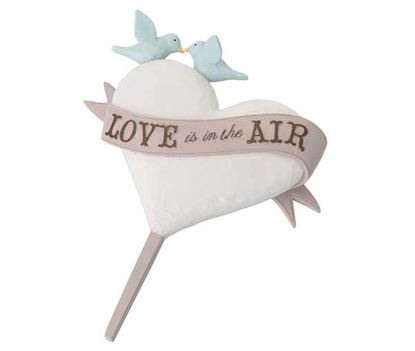 """Love is in the Air Cake Topper 5"""" x 4"""" Each"""