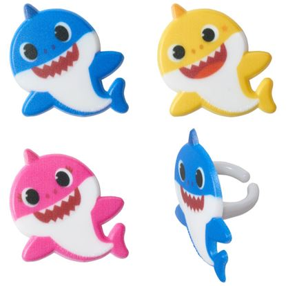 Baby Shark Mommy, Daddy and Baby Rings 12 count